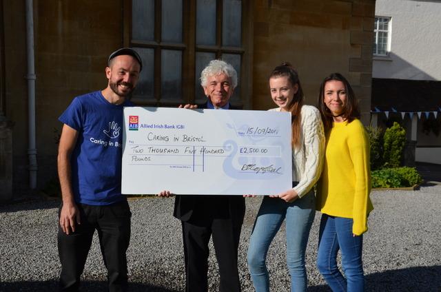 Badminton School raises £2,500 for local charity Caring in Bristol