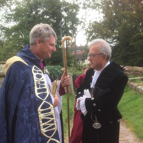Bishop & Charles Lillis-former parent & current High Sheriff of Shropshire