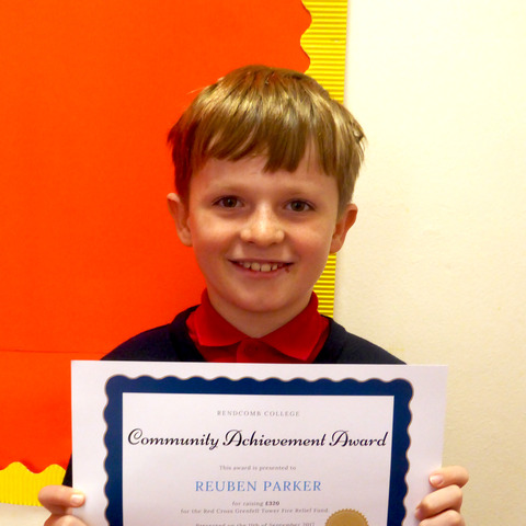 Pupil Reuben Parker and his Certificate