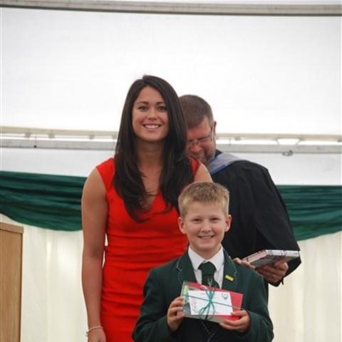 Sam Quek at Spratton Hall Speech Day