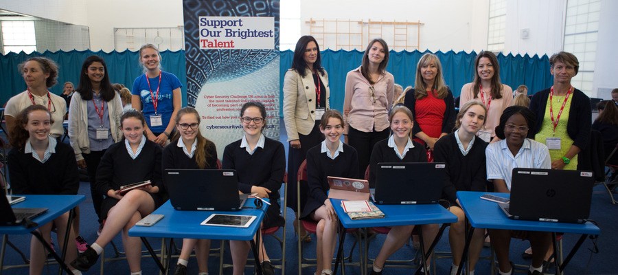 Y10 Girls enjoyed listening to keynote speakers from the world of Cyber security