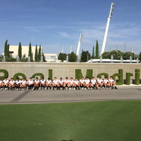Bede's footballers in Madrid 1
