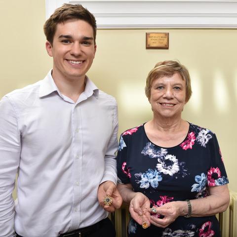 Mary Broad's relatives visit Talbot Heath
